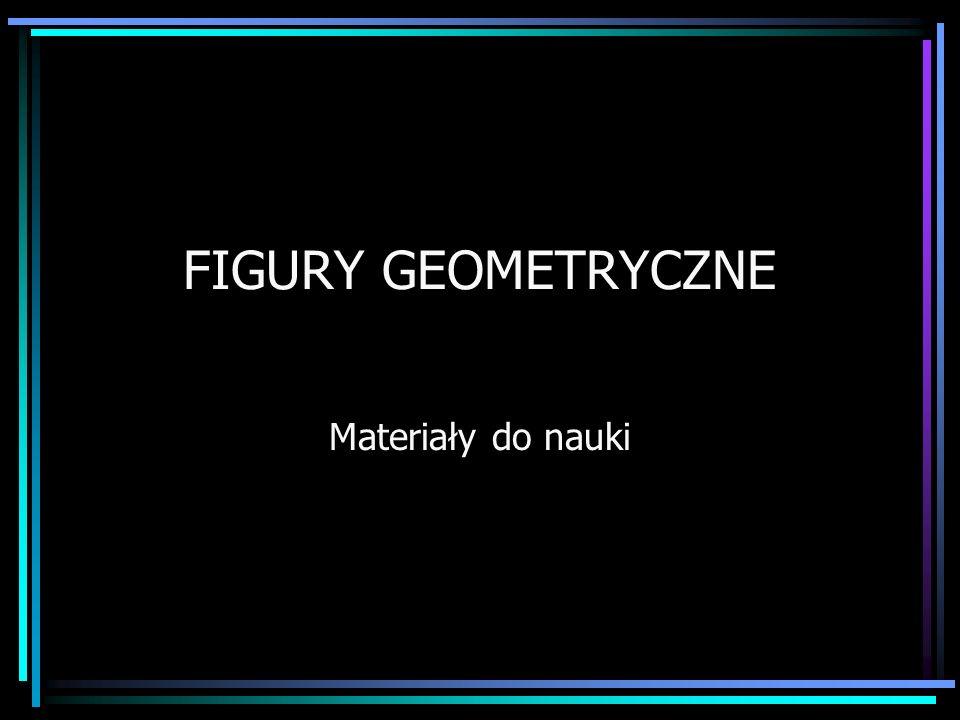 FIGURY GEOMETRYCZNE Materiały do nauki