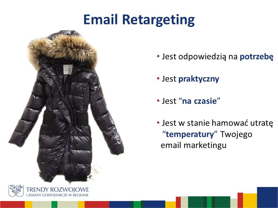 Jest odpowiedzią na potrzebę Jest praktyczny Jest na czasie Jest w stanie hamować utratętemperatury Twojego email marketingu Email Retargeting