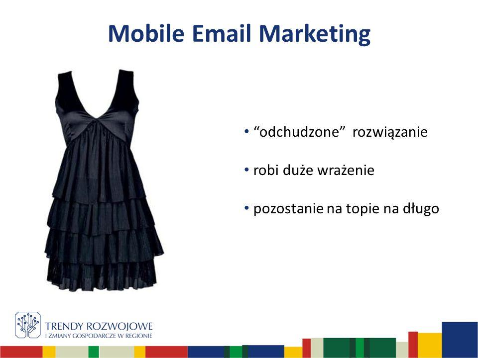 Mobile Email Marketing odchudzone rozwiązanie robi duże wrażenie pozostanie na topie na długo