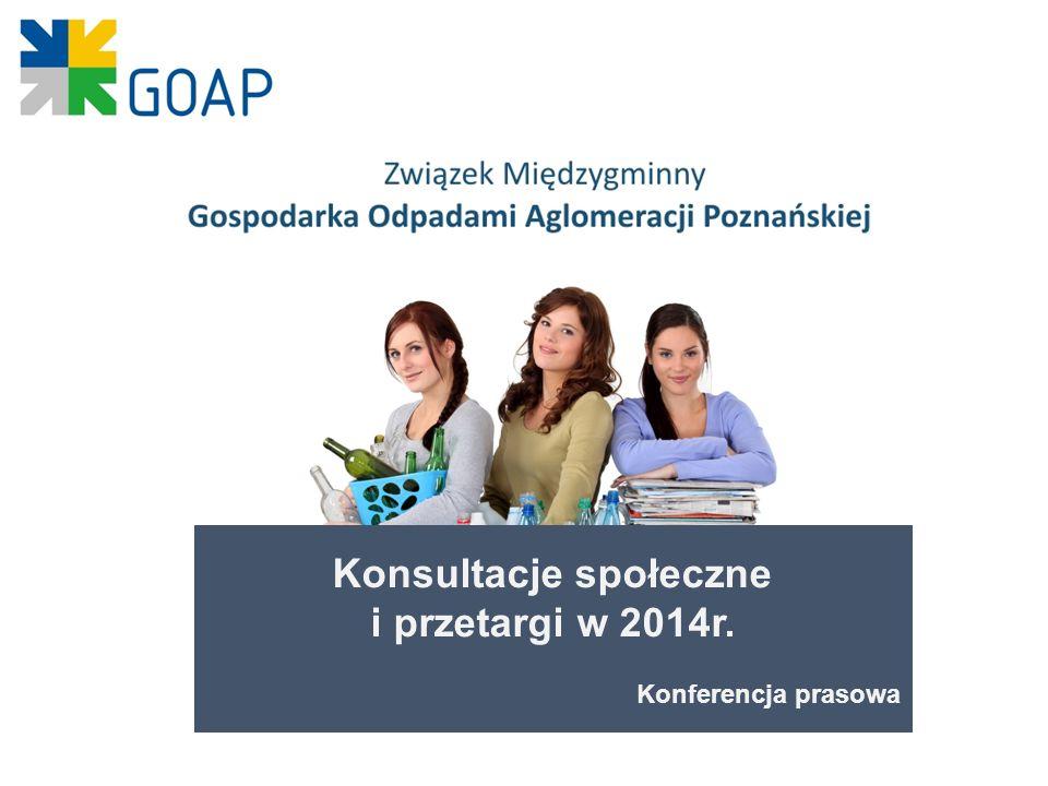 Konsultacje społeczne i przetargi w 2014r. Konferencja prasowa
