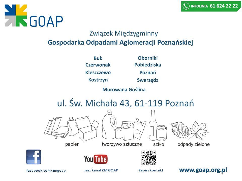 facebook.com/zmgoap nasz kanał ZM GOAP Zapisz kontakt 14