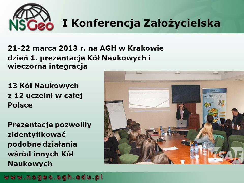 I Konferencja Założycielska 21-22 marca 2013 r.na AGH w Krakowie dzień 1.