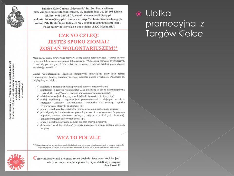 Ulotka promocyjna z Targów Kielce