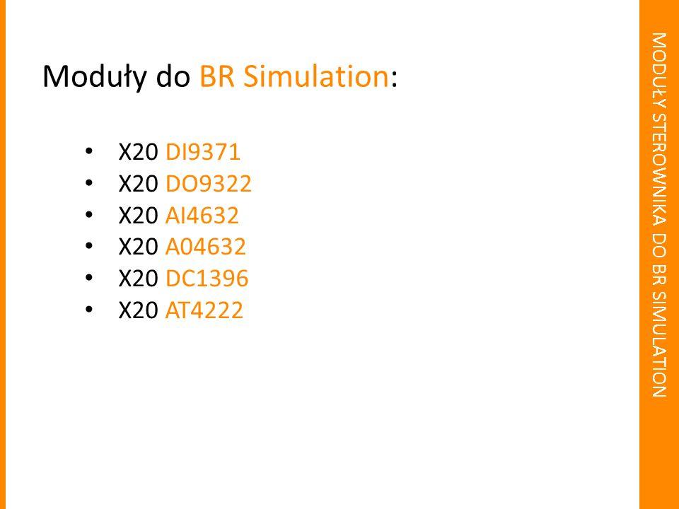 MODUŁY STEROWNIKA DO BR SIMULATION 4 wejścia dla rezystancyjnych mierników temperaturowych PT100 / PT1000 Praca w trybie sensora mierzącego temperaturę, bądź bezpośrednio oporność Podłączenie 2 lub 3 ścieżkowe X20 AT4222: