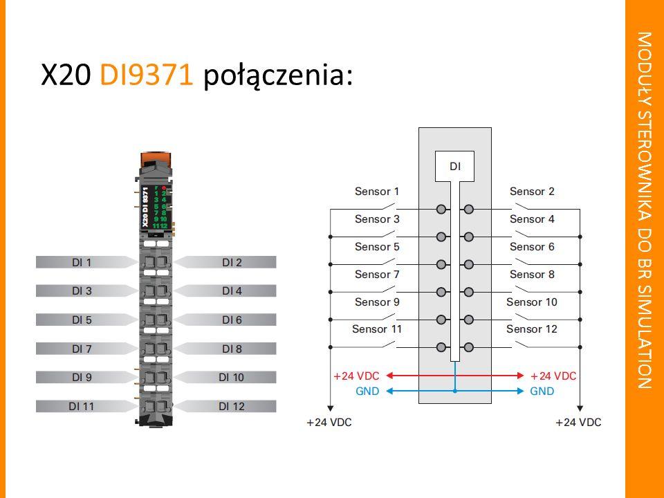 MODUŁY STEROWNIKA DO BR SIMULATION 12 wyjść cyfrowych X20 DO9322: