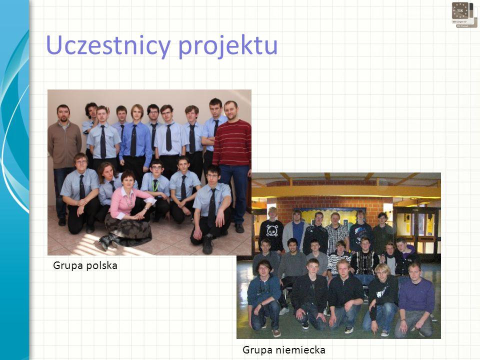 Grupa niemiecka Grupa polska Uczestnicy projektu,