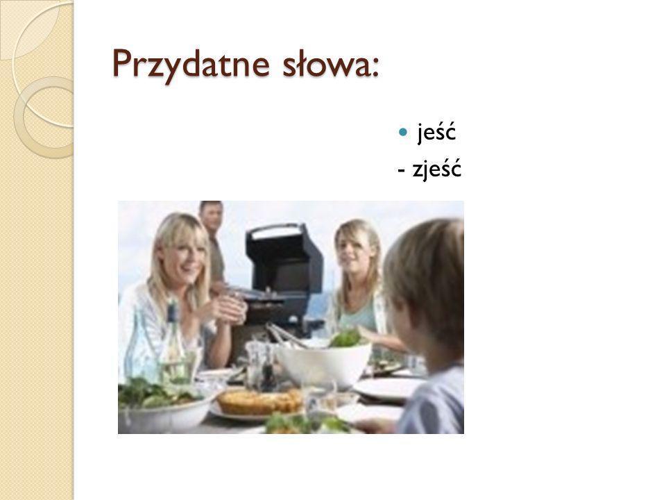 Przydatne słowa: jeść - zjeść