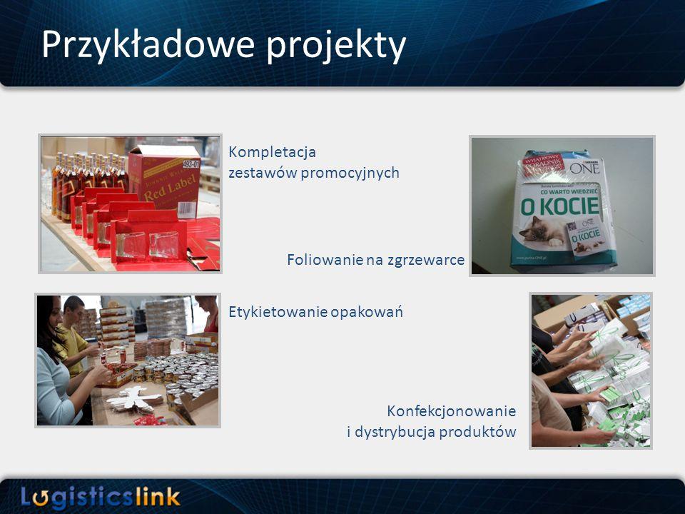 Przykładowe projekty Kompletacja zestawów promocyjnych Etykietowanie opakowań Foliowanie na zgrzewarce Konfekcjonowanie i dystrybucja produktów