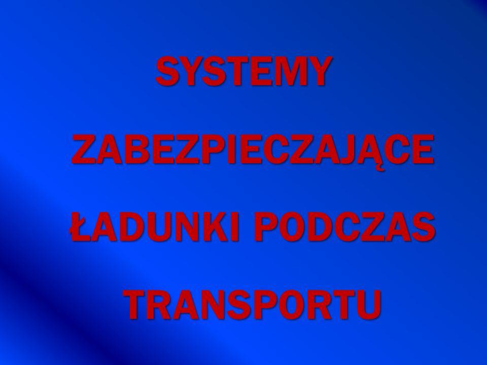SYSTEMY ZABEZPIECZAJĄCE ŁADUNKI PODCZAS TRANSPORTU