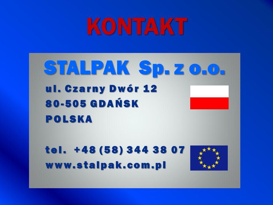 KONTAKT STALPAK Sp. z o.o. ul. Czarny Dwór 12 80-505 GDAŃSK POLSKA tel. +48 (58) 344 38 07 www.stalpak.com.pl