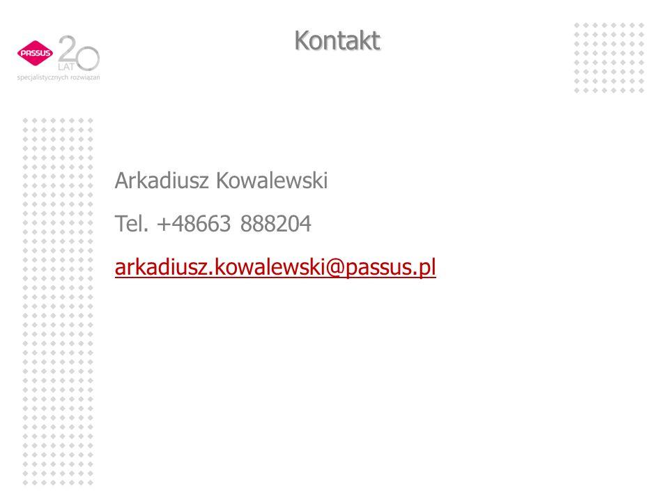 Kontakt Arkadiusz Kowalewski Tel. +48663 888204 arkadiusz.kowalewski@passus.pl