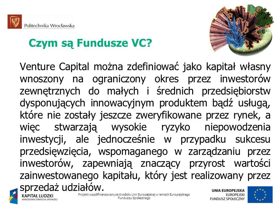 Czym są Fundusze VC? Venture Capital można zdefiniować jako kapitał własny wnoszony na ograniczony okres przez inwestorów zewnętrznych do małych i śre