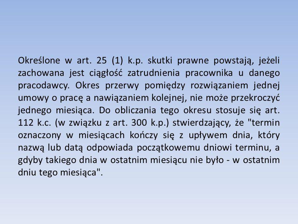 Określone w art.25 (1) k.p.