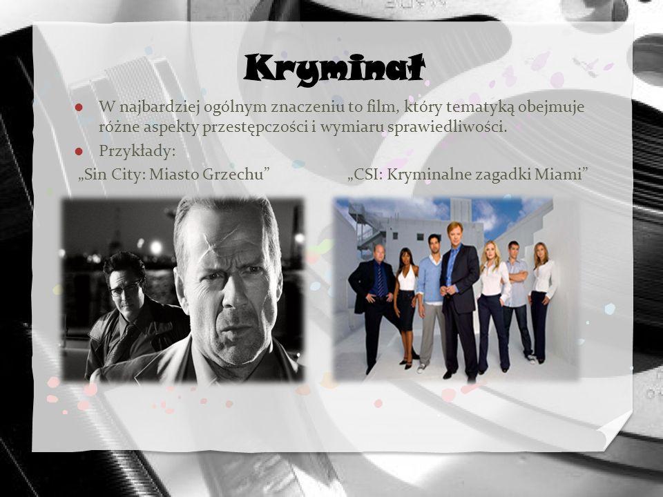W najbardziej ogólnym znaczeniu to film, który tematyką obejmuje różne aspekty przestępczości i wymiaru sprawiedliwości. Przykłady: Sin City: Miasto G