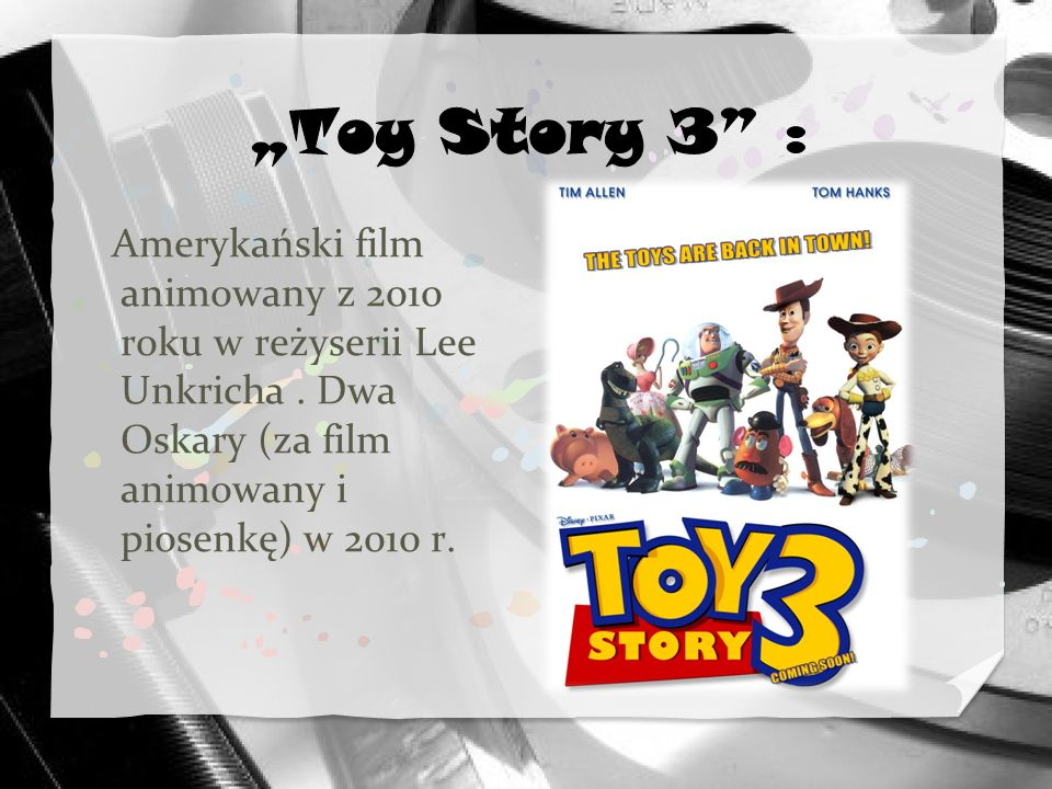 Amerykański film animowany z 2010 roku w reżyserii Lee Unkricha. Dwa Oskary (za film animowany i piosenkę) w 2010 r.