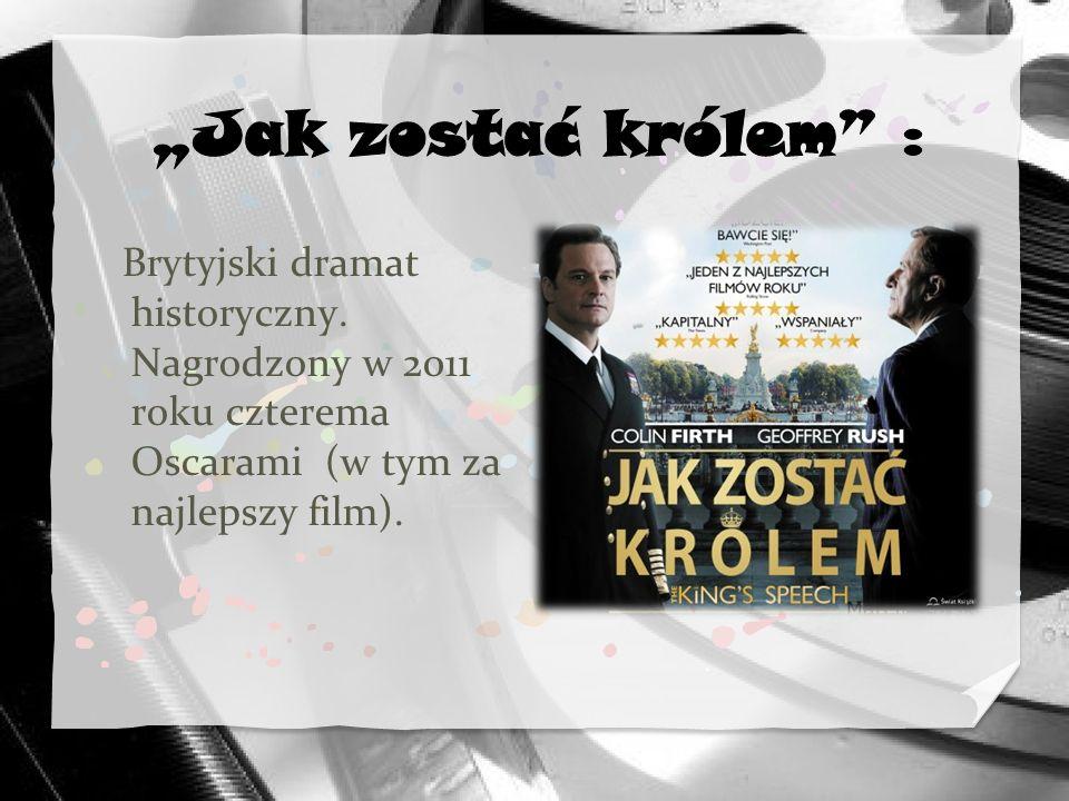 Brytyjski dramat historyczny. Nagrodzony w 2011 roku czterema Oscarami (w tym za najlepszy film).