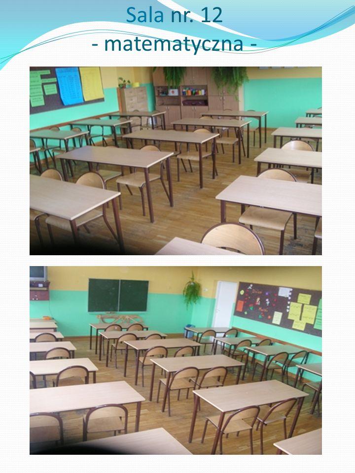 Sala nr. 12 - matematyczna -