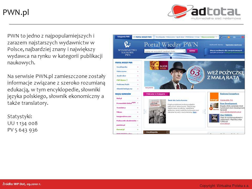 Copyright: Wirtualna Polska s.a. PWN.pl PWN to jedno z najpopularniejszych i zarazem najstarszych wydawnictw w Polsce, najbardziej znany i największy