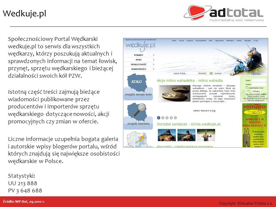 Copyright: Wirtualna Polska s.a. Wedkuje.pl Społecznościowy Portal Wędkarski wedkuje.pl to serwis dla wszystkich wędkarzy, którzy poszukują aktualnych