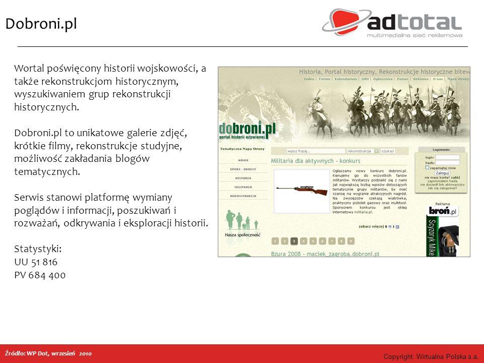 Copyright: Wirtualna Polska s.a.Rozklady.com.pl Źródło: WP Dot, 09.2010 r.