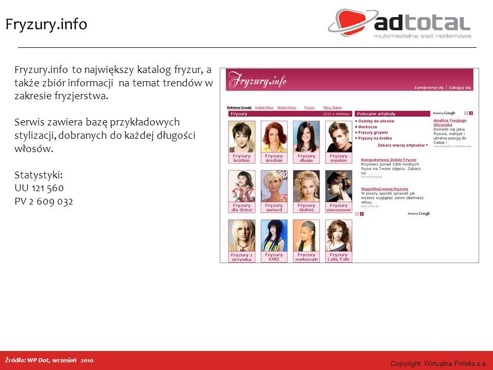 Copyright: Wirtualna Polska s.a. Fryzury.info Fryzury.info to największy katalog fryzur, a także zbiór informacji na temat trendów w zakresie fryzjers