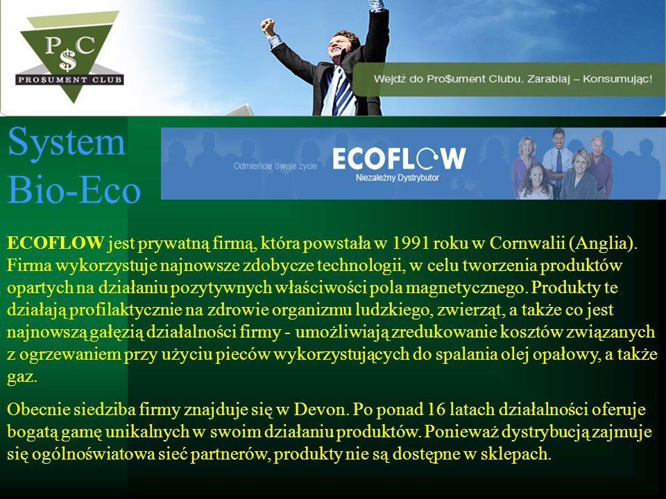 System Bio-Eco ECOFLOW jest prywatną firmą, która powstała w 1991 roku w Cornwalii (Anglia). Firma wykorzystuje najnowsze zdobycze technologii, w celu