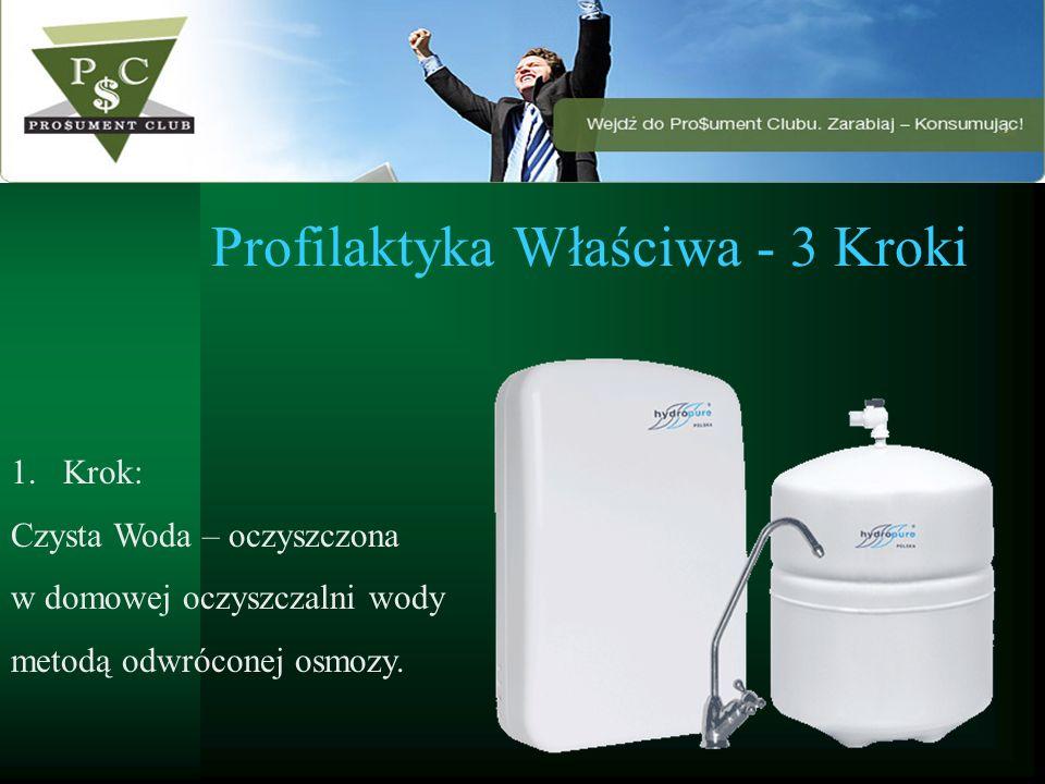 Profilaktyka Właściwa - 3 Kroki 1.Krok: Czysta Woda – oczyszczona w domowej oczyszczalni wody metodą odwróconej osmozy.