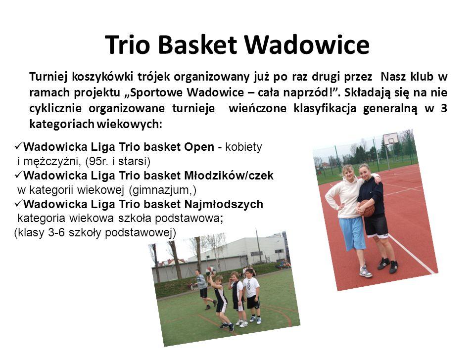 Trio Basket Wadowice Turniej koszykówki trójek organizowany już po raz drugi przez Nasz klub w ramach projektu Sportowe Wadowice – cała naprzód!. Skła