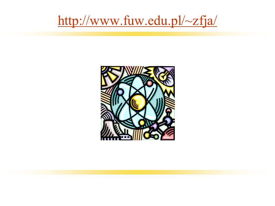 22/11/2004Marcin P. Sadowski Rozkłady kątowe…36 http://www.fuw.edu.pl/~zfja/