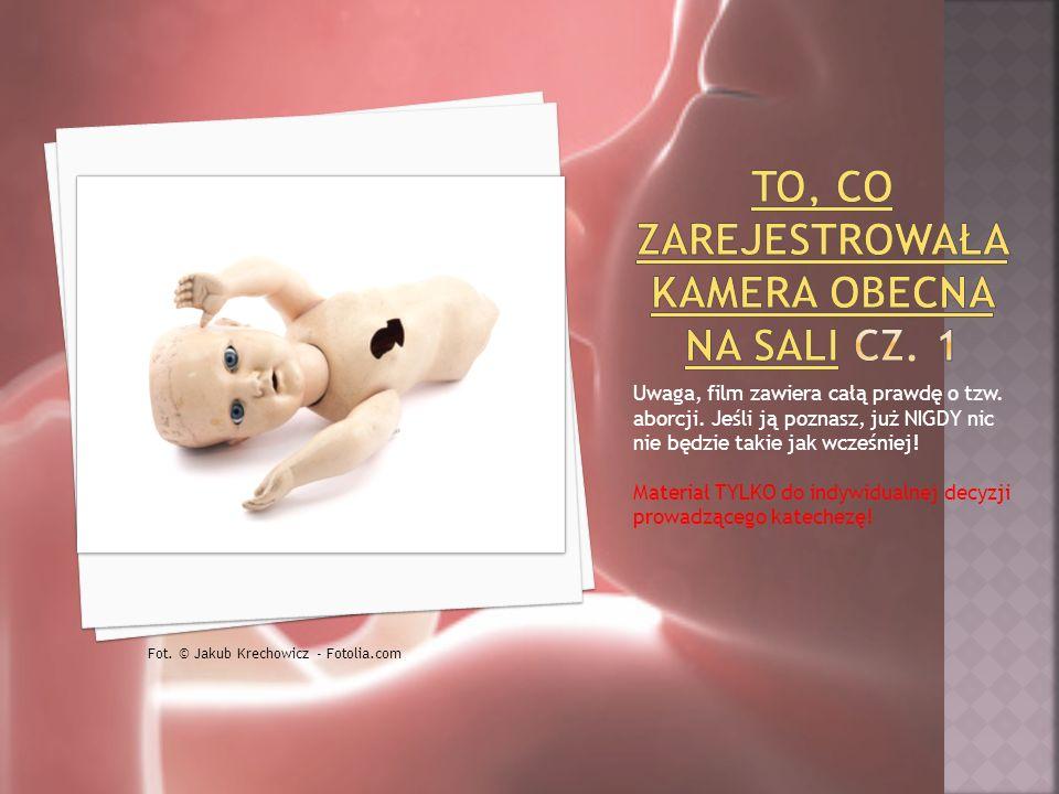 Uwaga, film zawiera całą prawdę o tzw. aborcji. Jeśli ją poznasz, już NIGDY nic nie będzie takie jak wcześniej! Materiał TYLKO do indywidualnej decyzj