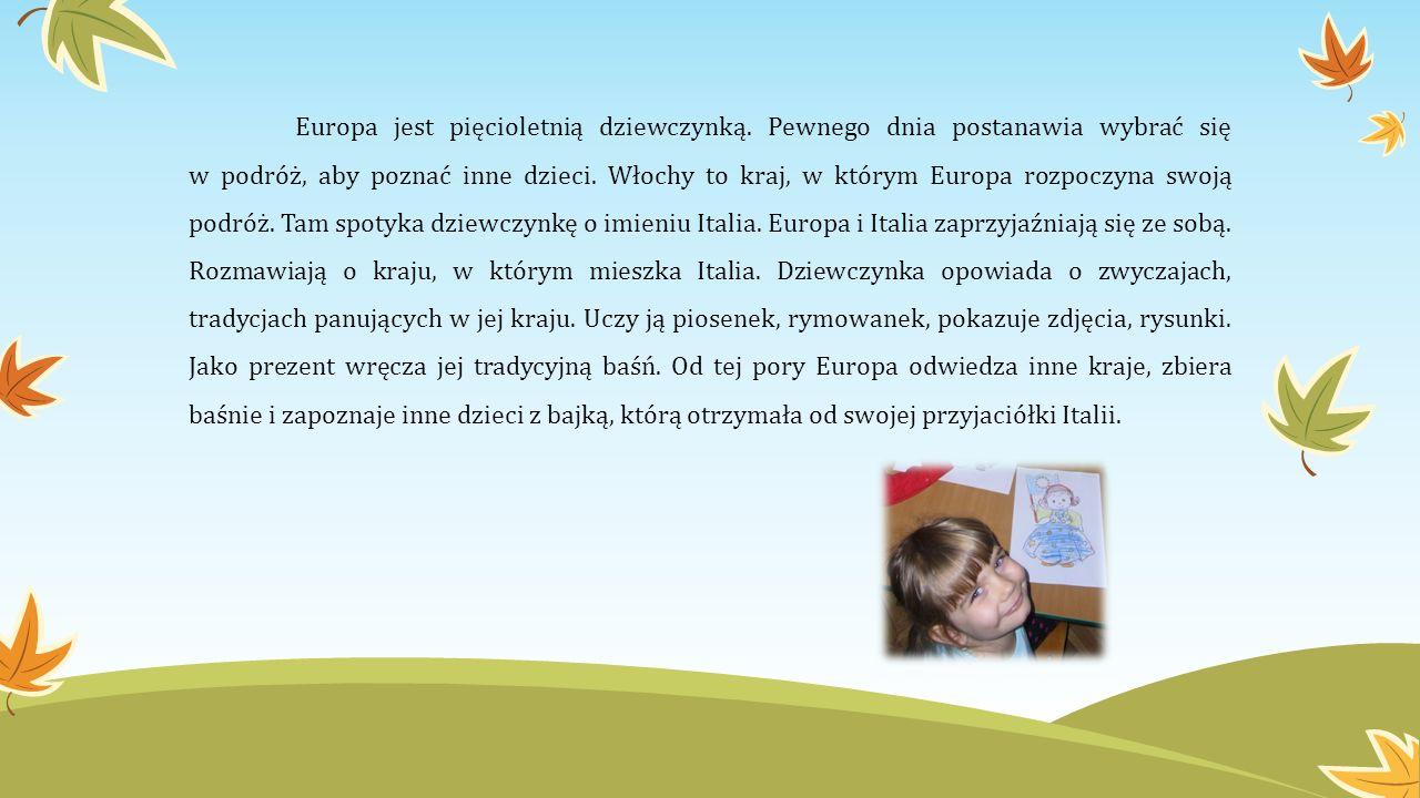 Europa jest pięcioletnią dziewczynką. Pewnego dnia postanawia wybrać się w podróż, aby poznać inne dzieci. Włochy to kraj, w którym Europa rozpoczyna