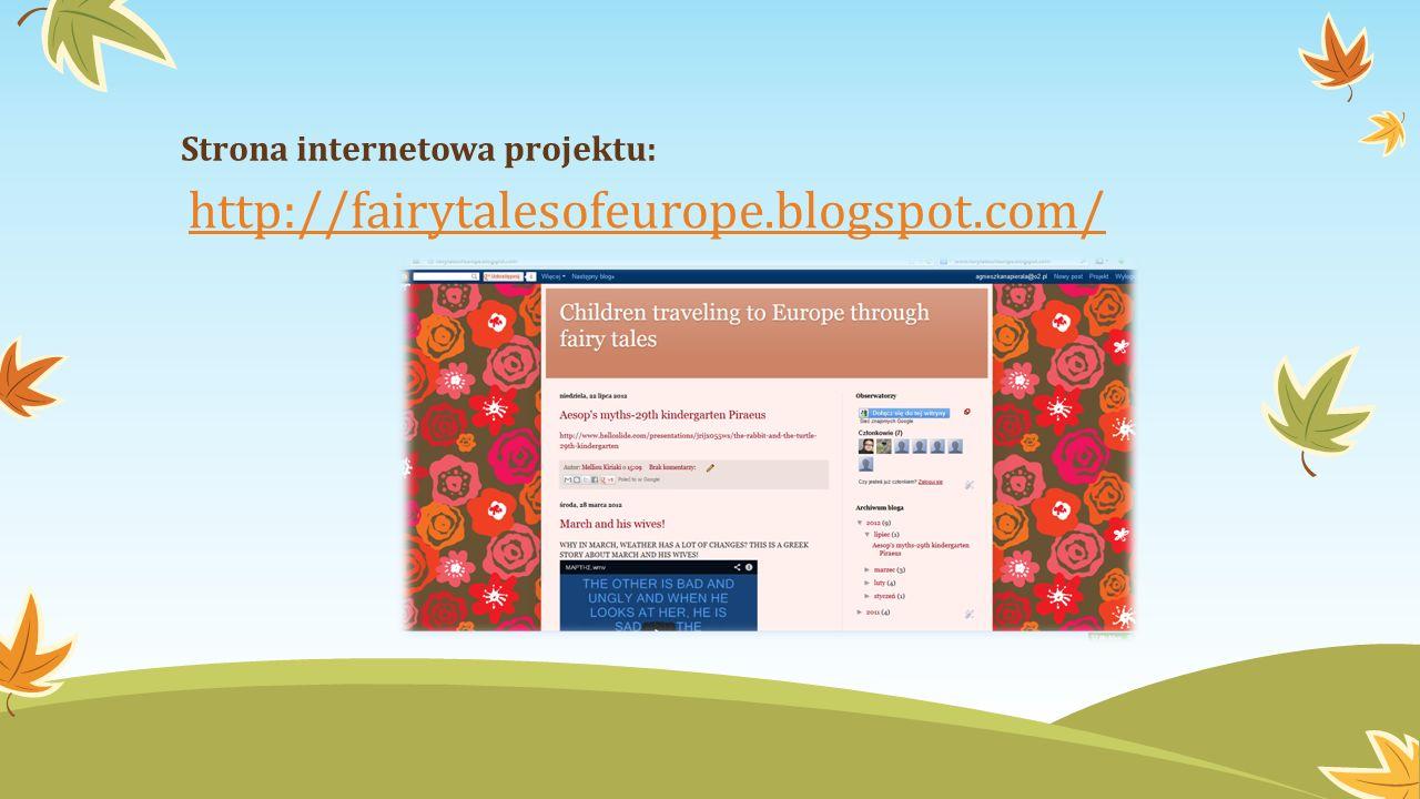 http://fairytalesofeurope.blogspot.com/ Strona internetowa projektu: