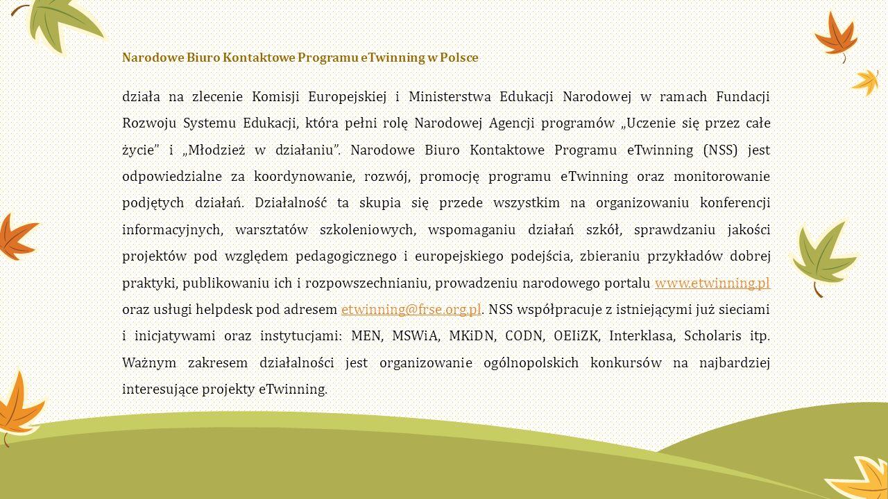 Narodowe Biuro Kontaktowe Programu eTwinning w Polsce działa na zlecenie Komisji Europejskiej i Ministerstwa Edukacji Narodowej w ramach Fundacji Rozw