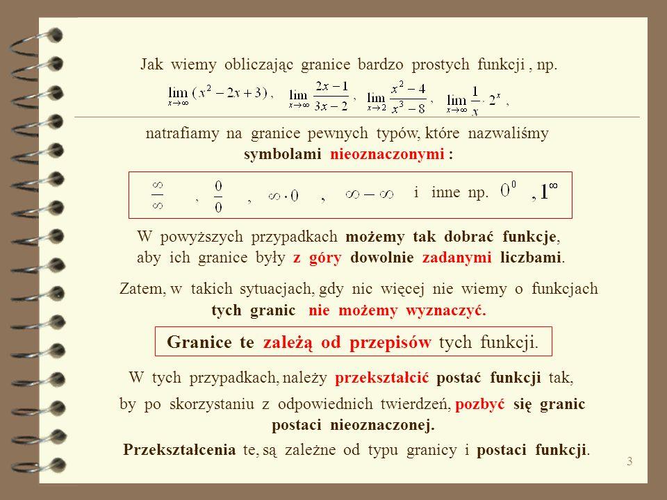 Czy obliczanie granic funkcji jest trudne ? Oczywiście jest to retoryczne pytanie, gdyż wiadomo, że to zależy od postaci funkcji, od znajomości twierd