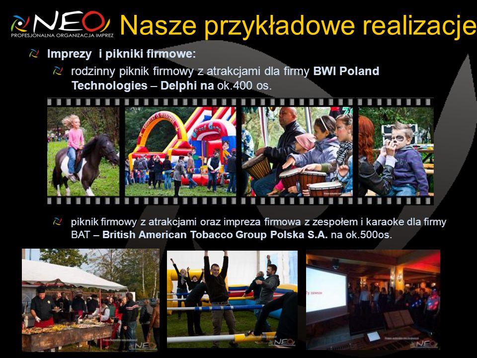 Imprezy i pikniki firmowe: rodzinny piknik firmowy z atrakcjami dla firmy BWI Poland Technologies – Delphi na ok.400 os. piknik firmowy z atrakcjami o