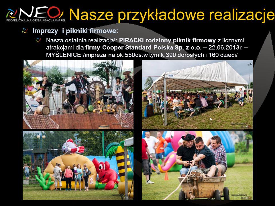 Nasze przykładowe realizacje Imprezy i pikniki firmowe: Nasza ostatnia realizacja!: PIRACKI rodzinny piknik firmowy z licznymi atrakcjami dla firmy Co