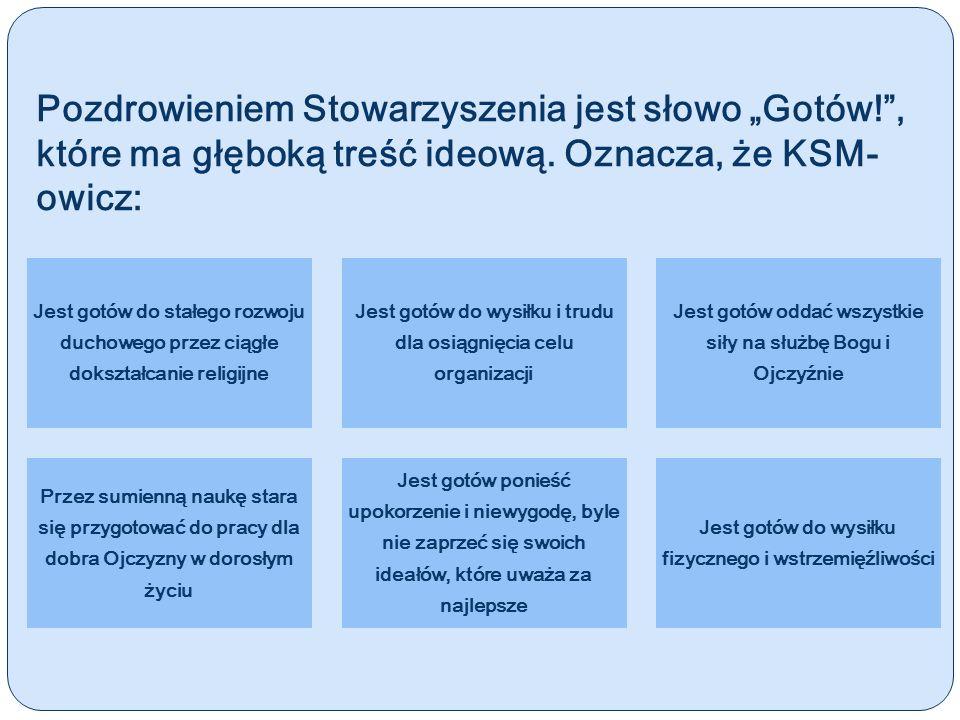 Statut KSM Statut został zatwierdzony przez 261 Konferencję Episkopatu Polski w Warszawie w roku 1993.