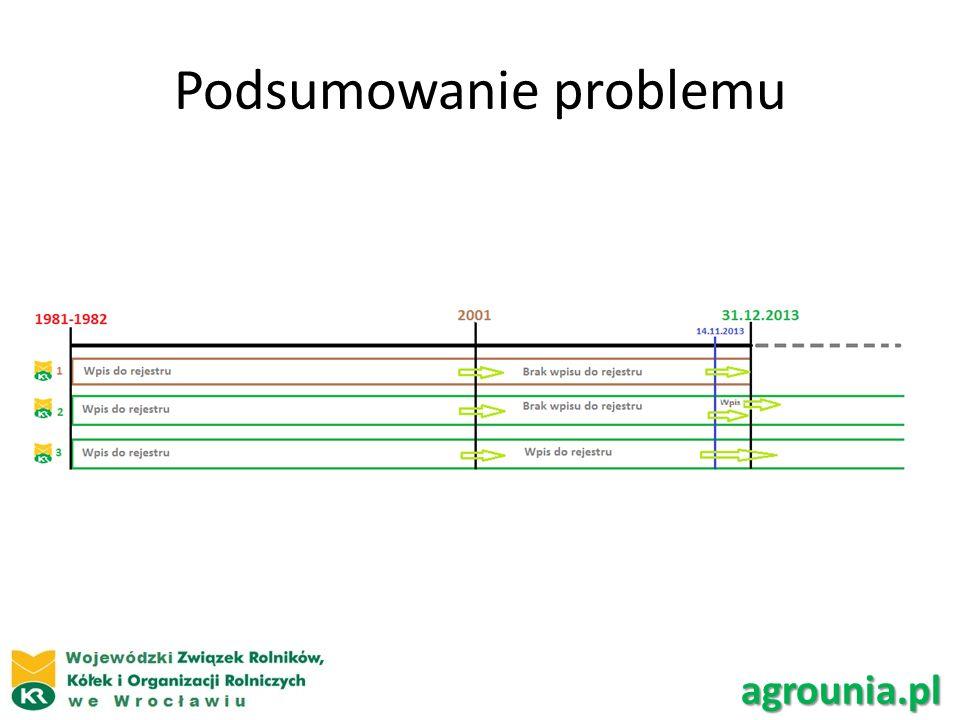 Podsumowanie problemu agrounia.pl