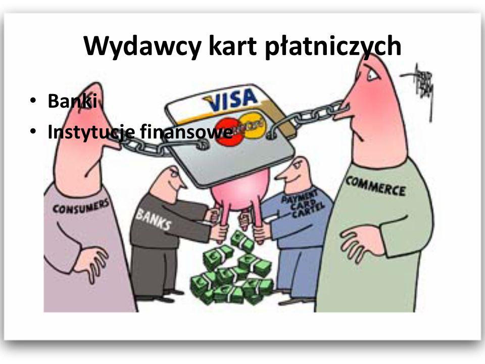 Wydawcy kart płatniczych Banki Instytucje finansowe