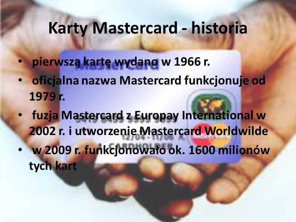 Karty Mastercard - historia pierwszą kartę wydano w 1966 r.