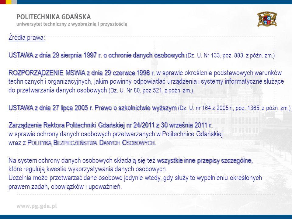 Źródła prawa: USTAWA z dnia 29 sierpnia 1997 r.