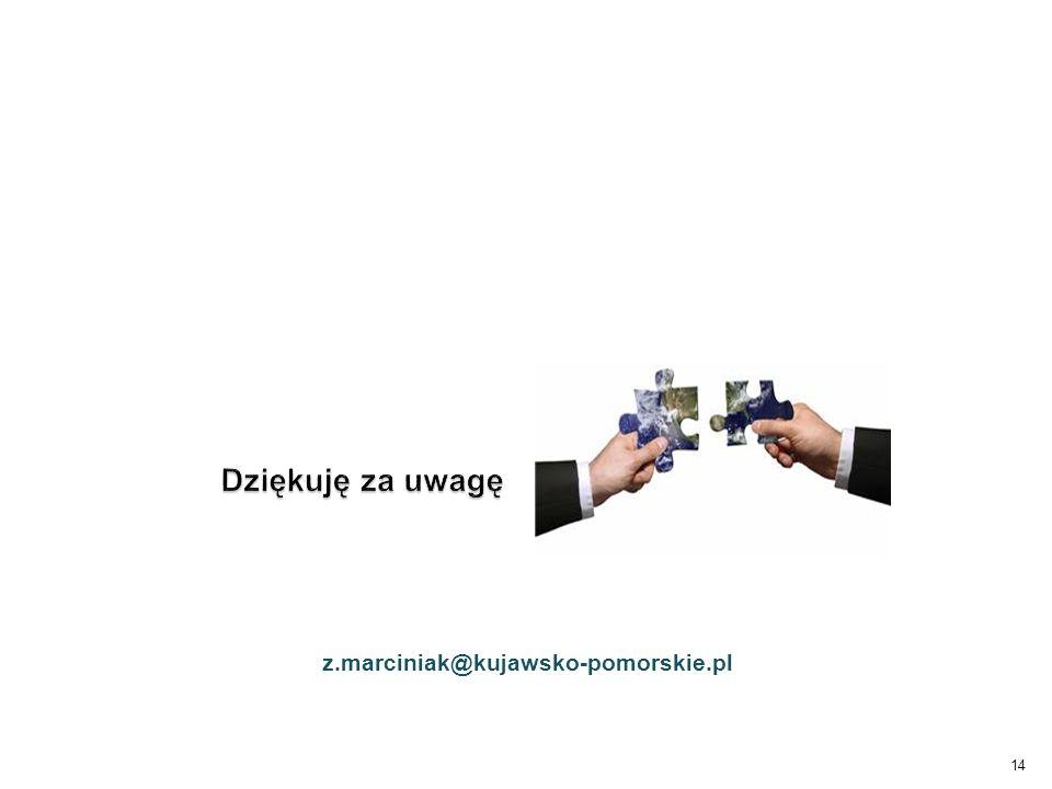 14 Dziękuję za uwagę z.marciniak@kujawsko-pomorskie.pl