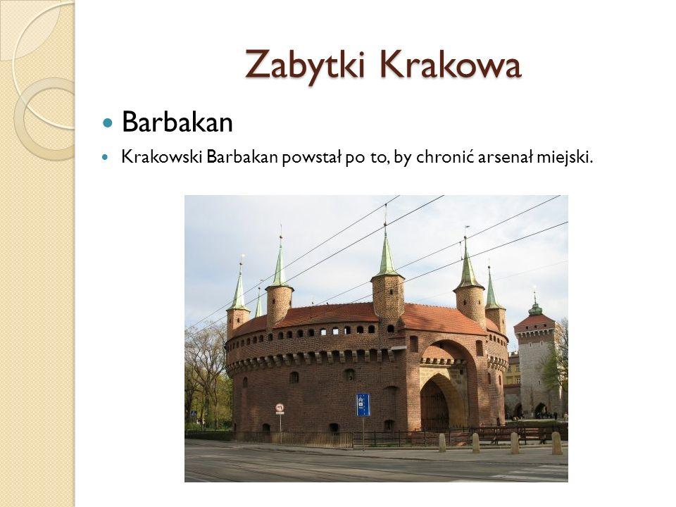Zabytki Krakowa Sukiennice Znajdują się w środkowej części Rynku.