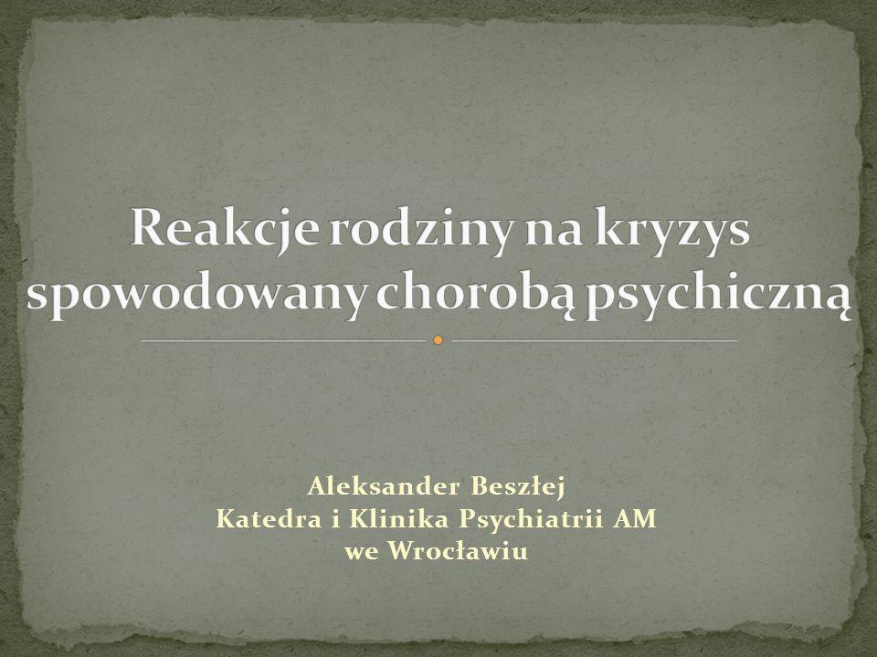 Aleksander Beszłej Katedra i Klinika Psychiatrii AM we Wrocławiu