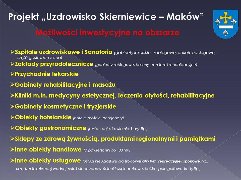 Projekt Uzdrowisko Skierniewice – Maków Szpitale uzdrowiskowe i Sanatoria (gabinety lekarskie i zabiegowe, pokoje noclegowe, część gastronomiczna) Zak