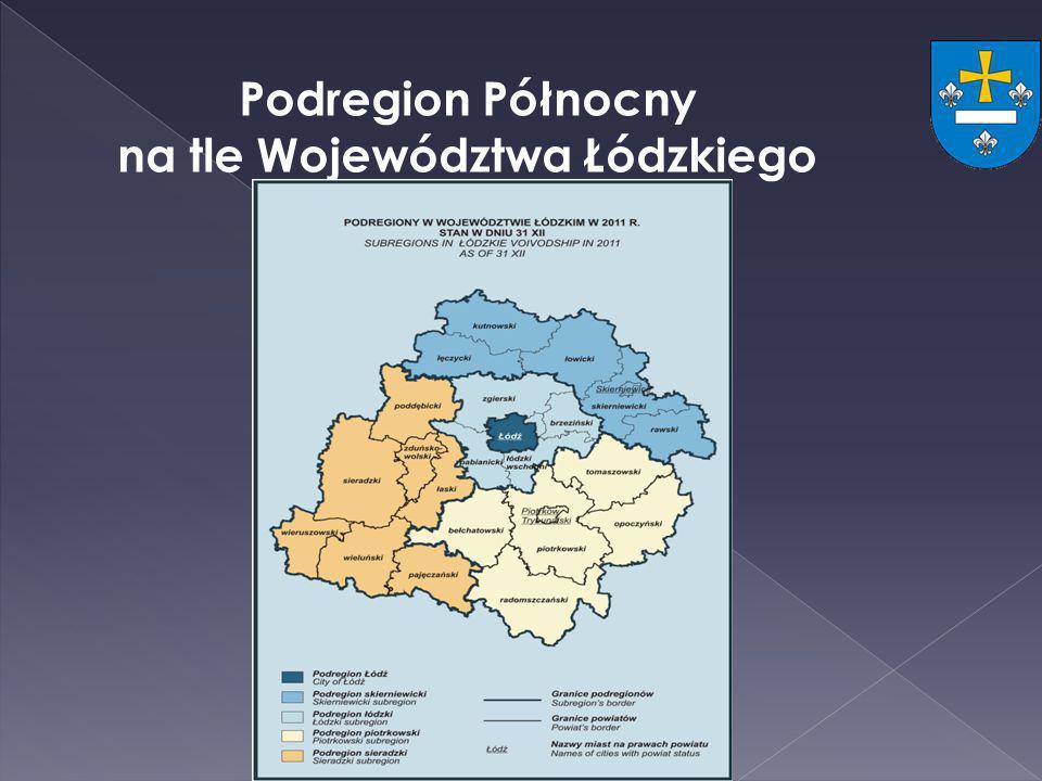 Podregion Północny na tle Województwa Łódzkiego