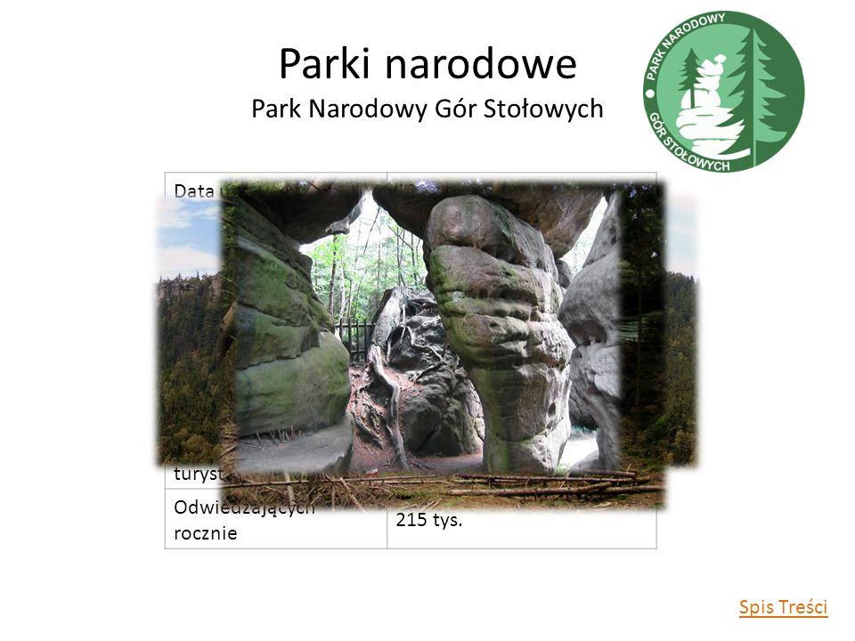 Parki narodowe Park Narodowy Gór Stołowych Data utworzenia1993 r.