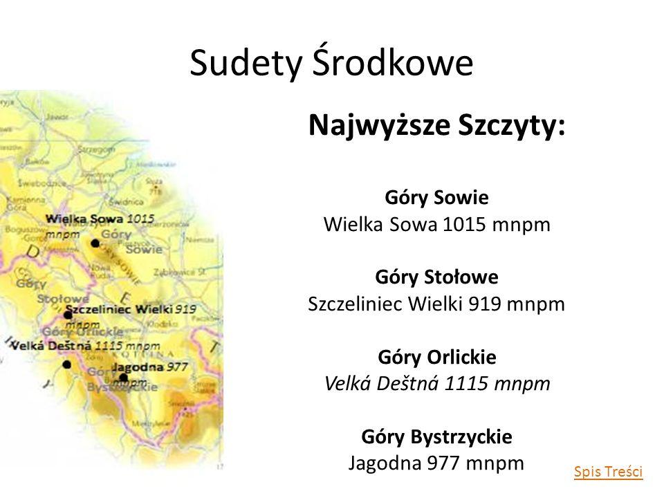 Sudety Wschodnie Najwyższe Szczyty: Góry Złote Smyrek 1125 mnpm Góry Opawskie Příčný vrch 975 mnpm Spis Treści
