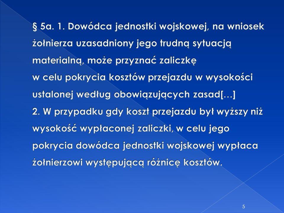 6 Rozporządzenie Ministra Obrony Narodowej z 24 lipca 2012 r.