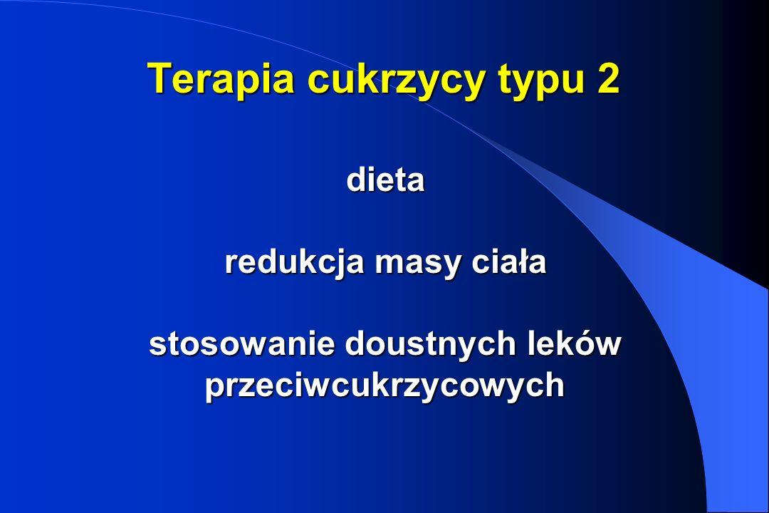Terapia cukrzycy typu 2 dieta redukcja masy ciała stosowanie doustnych leków przeciwcukrzycowych